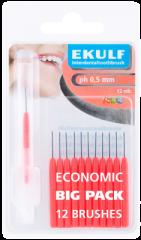Ekulf hammasväliharja ph ABC 0,5 punainen X12 kpl