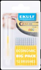 Ekulf hammasväliharja ph ABC 0,6 keltainen X12 kpl