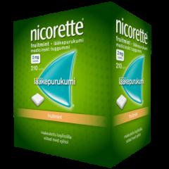 NICORETTE FRUITMINT 2 mg lääkepurukumi 210 fol