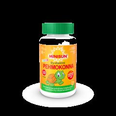 Minisun Pehmokonna 10 mikrog D-vitamiini Junior, pureskeltava pehmytpala 60 kpl