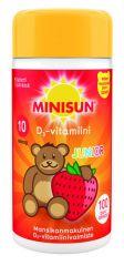 MINISUN D-VITAMIINI 10 MIKROG JUNIOR NALLE MANSIKKA 100 PURUTABL