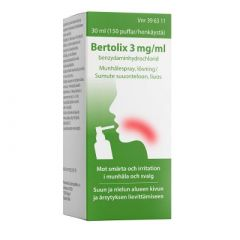 BERTOLIX 3 mg/ml sumute suuonteloon, liuos (annospumppu, 150 painallusta)30 ml